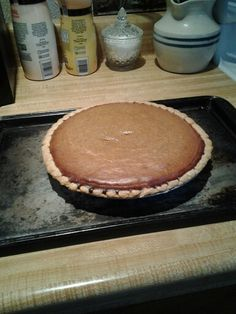 Made this pumpkin pie from  farmhouse rules really good