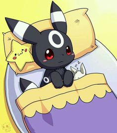Look how small the eevee is! umbreon, eevee, pokemon<<< oh god I didn't even notice Eevee at first. Umbreon E Espeon, Gif Pokemon, Pokemon Eeveelutions, Eevee Evolutions, Pokemon Fan Art, Pokemon Pins, Cute Pokemon Pictures, Cute Pictures, Homemade Cards