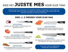 Welk keukenmes gebruik je voor welke snijtaak? Diamant Sabatier zet het voor je op een rijtje. www.sabatier.nl