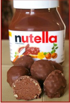 """ Delicious Nutella Truffles"""
