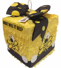 What will it bee Gender Reveal Block Pinata Gender Reveal Pinata, Bee Gender Reveal, Baby Gender Reveal Party, Bee Party, Bee Theme, Reveal Parties, Easy Access, 5 Pounds, Candy