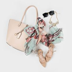 Flatlay, Spring Accessories, How to Style Scarves