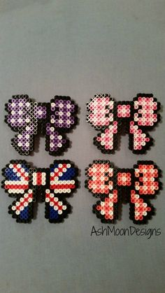 Perler Bead Hair Bows by AshMoonDesigns on Etsy, $5.00