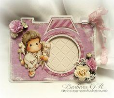 OOAK Camera Card with Cupid Angel Tilda by CardsbyBarbaraGR on Etsy