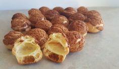 Cream puff with craquelin recipe! Alchemy, Almond, Muffin, Cream, Baking, Breakfast, Food, Palm Oil, Veggies