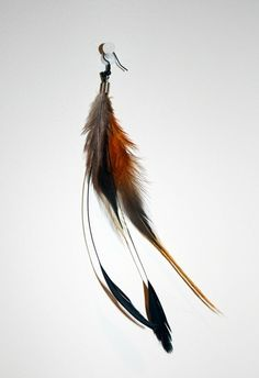 Rooster feather earrings by FromScrapsToSass on Etsy - StyleSays
