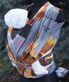 3f5a9f833df Tkaný šátek na nošení dětí - Australie - Mamitati -  zavinovačky