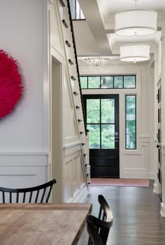One of the first things about a house that a guest or home buyer notices is the front door. If you want to make a statement, upgrading or revamping your front door is a smart move that isn't all th… Home Design, Luxury Interior Design, Design Ideas, Front Door Paint Colors, Painted Front Doors, Home Renovation, Black Entry Doors, Door Entryway, Front Door Trims