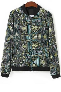 Abstract Graphic Bomber Jacket