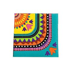"Brighten your Party with our festive Mexican Fiesta Napkins! Quantity: 16 Napkins per pack. Size:  5"" L x 5"" W approx."
