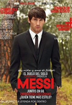 Leo Messi, GQ magazine - lordy he is adorable! ❤️