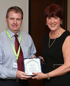 IOSH Singapore Branch Chair Darren Brunton with HSE Chair Judith Hackitt CBE at the Singapore Branch Annual General Meeting in May 2014.