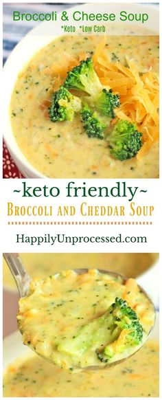 Broccoli Cheddar Soup (Keto Friendly) A creamy delicious cheddar cheese soup with bits of broccoli. Perfect for a low carb/keto lifestyle - LOW CARB Broccoli & Cheddar Cheese Soup (Keto Friendly) Soup Recipes, Diet Recipes, Healthy Recipes, Recipes Dinner, Salad Recipes, Dessert Recipes, Breakfast Recipes, Lunch Recipes, Recipies