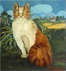 Gatto di Antonio Ligabue. Dipinto superbo...
