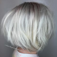 Platinum Blonde Chopped Bob