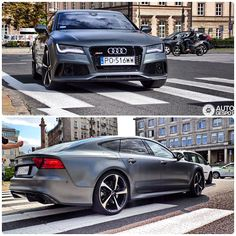 Polish #wildthing | #Audi #RS7 #AudiRS7 #quattro in #Warsawa #Poland #daytonagrey images via #autogespot