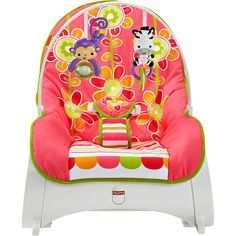 Infant Toddler Rocker Baby Sleeper Rocking Chair Floral Confetti Fisher Price  #FisherPrice
