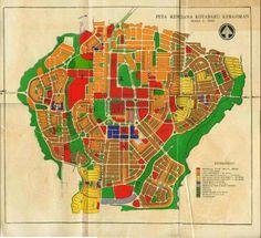 old map, Kotabaru Kebajoran 1950