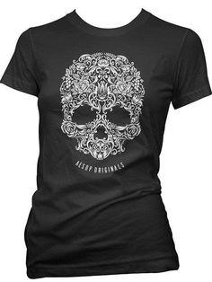 "Women's ""A Skull Named Sugar"" Tee by Aesop Originals (More Options)"