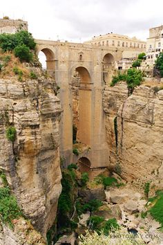 Spain. Andalucía. Ronda.  One of the most beautiful cities in Spain.