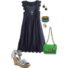 love the navy with a pop of green