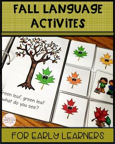 This predictable reader with related language activities are a must have for your speech room or preschool class. These activities target: colors, basic fall vocabulary, basic questions, categorizing and basic concepts. Black lined books are included.  Send home or use as a color, cut and glue activity. Can be used as a co-treat with the OT. Click here to see more!