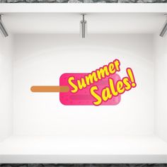Αυτοκόλλητα καλοκαιρινής βιτρίνας προσφορών Ξυλάκι Summer Sales