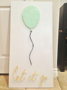 DIY nail string art. Let it go