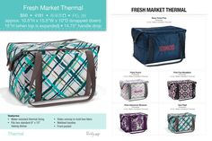 Fresh Market Thermal.  If you are interested in any of these amazing products from Thirty-One, please just contact me!! https://www.mythirtyone.com/elizabethbagwell/