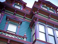 Brightly painted Victorian