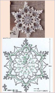 Crochet Star Patterns, Crochet Tablecloth Pattern, Crochet Snowflake Pattern, Crochet Symbols, Crochet Stars, Christmas Crochet Patterns, Crochet Snowflakes, Thread Crochet, Crochet Motif