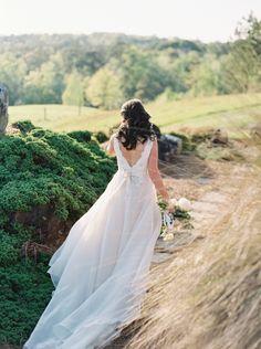 Wedding dress by JLM Couture, Inc: http://www.stylemepretty.com/alabama-weddings/alexander-city/2016/08/25/rustic-alabama-wedding/ Photography: Simply Sarah - http://simplysarah.me/