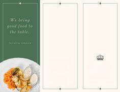Green Simple and Elegant Catering Trifold Brochure