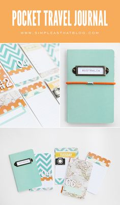 DIY Pocket Travel Journal Tutorial - simple as that  http://simpleasthatblog.com/2012/07/diy-pocket-travel-journal-tutorial.html