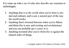 A great quote from Douglas Adams