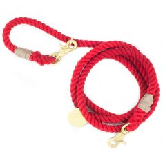 Adjustable Red Rope Leash by Found My Animal for Lucy & Co.