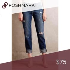"Paige ""Porter"" jeans Paige Porter jeans Online anthropologie exclusive, sold out. Size 29, run a tad large in my opinion due to being ""boyfriend"" cut.  Super cute. New with tags. Paige Jeans Jeans Boyfriend"