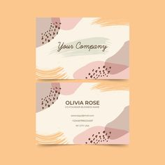 Abstract business card with pastel-color. Thank You Card Design, Name Card Design, Banner Design, Web Design, Layout Design, Business Card Design, Business Cards, Branding Design, Logo Design