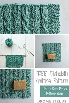 "Get your FREE washcloth knitting pattern! Learn how to knit Alternating Twists to create the ""cables"" in this VIDEO Tutorial. This yarn is super soft, which makes a great washcloth for a baby shower gift :) Knitted Washcloth Patterns, Knitted Washcloths, Dishcloth Knitting Patterns, Knit Dishcloth, Knitting Stitches, Free Knitting, Knitting Projects, Knitting Ideas, Knifty Knitter"