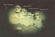 image only Theodore Roosevelt, Thomas Jefferson, George Washington, Abraham Lincoln, The Great Outdoors, Mount Rushmore, To Go, Spaces, Cards