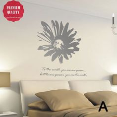sunflower blossom wall decal
