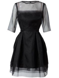 Lanvin layered silk dress