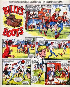 Comic strip in Roy of the Rovers. School Memories, Childhood Memories, Bobby Charlton, Morning Cartoon, Football Memorabilia, Halcyon Days, Comics Story, Have A Laugh, The Good Old Days