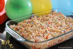 Birthday cake rice krispie treats.
