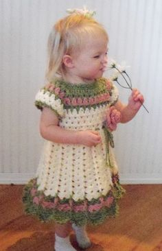 Pattern for Crocheted Dress 1824 month by OldWorldHandworks