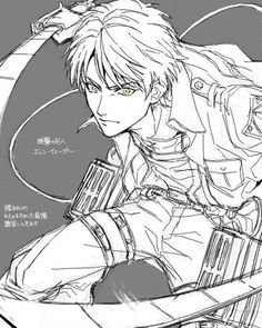 THIS LOOKS LIKE THE OLDER EREN I'D DIE FOR BUT DUE TO UNFORTUNATE CIRCUMSTANCES ISAYAMA DECIDED THAT HE'D BE THE MIGHTY UNATTRACTIVE GRISHA JUNIOR INSTEAD