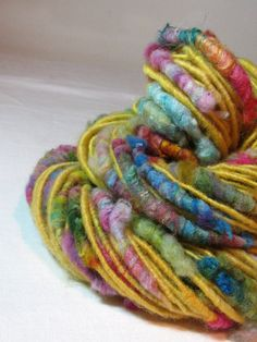 Handspun Art Yarn Corespun Sheeping Beauties by SheepingBeauty, $24.00