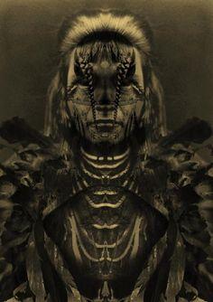 Psychedelische Indiase pic van Art and Sculpture, Etnische