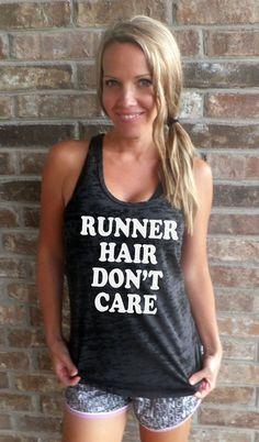 Runner Hair Don't Care Burnout Tank top