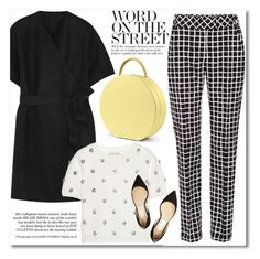 """""""Word on the street"""" by buwood ❤ liked on Polyvore featuring The Row, Oscar de la Renta, Alice + Olivia, Jimmy Choo, chic, autumnstyle, fall2015 and buwood"""
